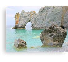 Limestone Arch - Lalaria Beach, Skiathos Island, Greece. Canvas Print