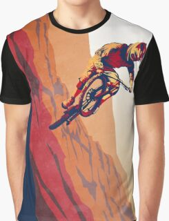 retro style mountain bike poster: Good to the Last Drop Graphic T-Shirt