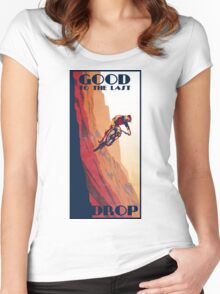 retro style mountain bike poster: Good to the Last Drop Women's Fitted Scoop T-Shirt