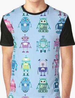 Robot Grid  Graphic T-Shirt