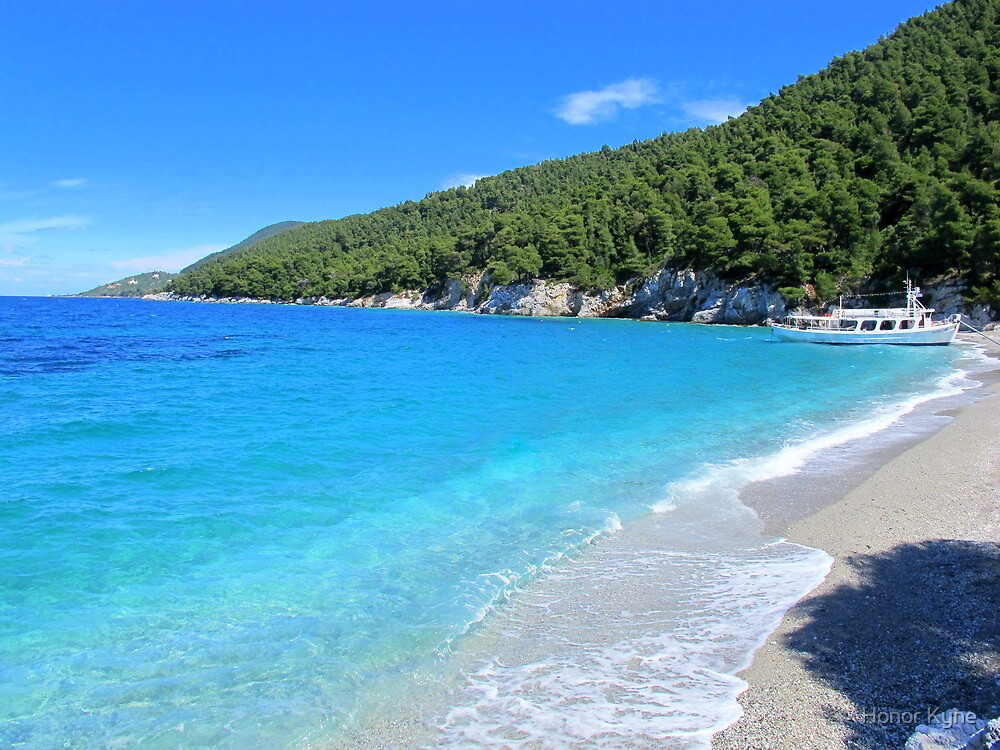 Gialos Kastani beach - Skopelos Island, Greece by Honor Kyne