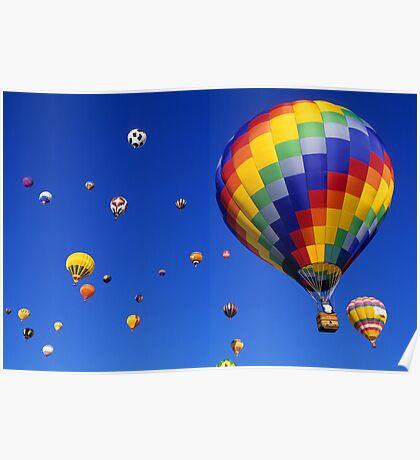 Hot Air Balloons Albuquerque Poster