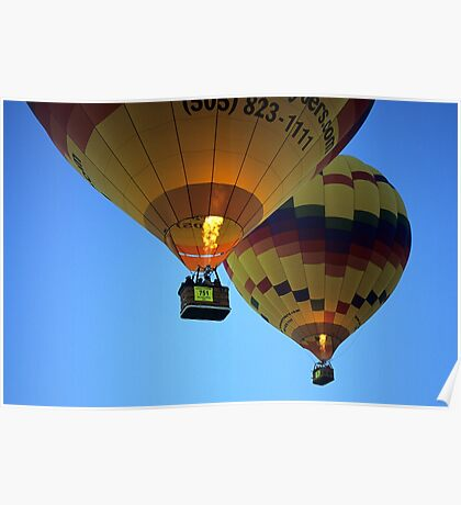 Hot Air Balloons New Mexico Poster