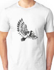 Raven Crow Shaman tribal tattoo design Unisex T-Shirt