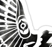 Raven Crow Shaman tribal tattoo design Sticker
