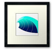 Surf Wave Framed Print