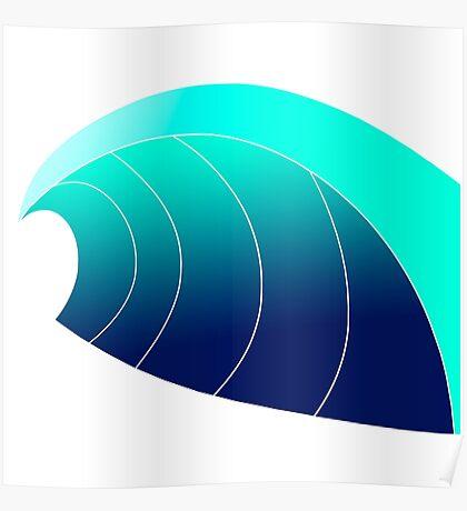 Surf Wave Poster