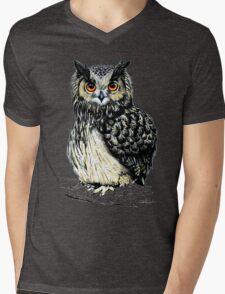 Eagle Owl Mens V-Neck T-Shirt