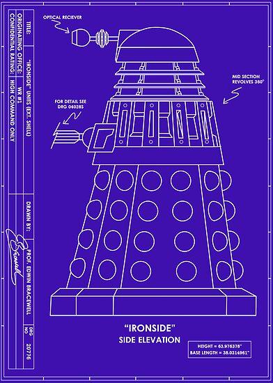 Bracewell's Ironside (Dalek) Blueprints by metallikunt