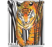 ENDANGERED TIGER BARCODE illustration print iPad Case/Skin