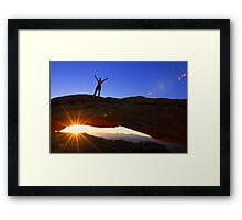 Celebrate The New Day Framed Print