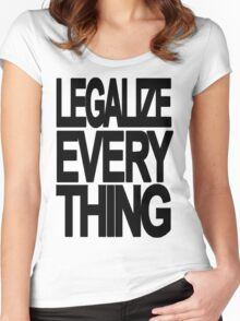 Legalize Everything Women's Fitted Scoop T-Shirt