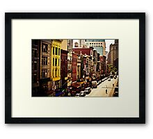 Above Chinatown - New York City Framed Print