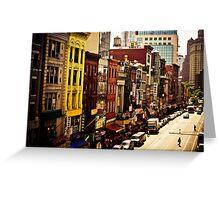 Above Chinatown - New York City Greeting Card