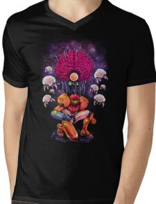 Mother Brain Mens V-Neck T-Shirt