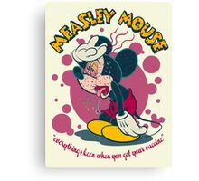 MEASLEY MOUSE Canvas Print