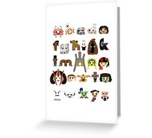 ABC3PO Episode II Greeting Card