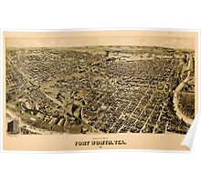 Panoramic Maps Perspective map of Fort Worth Tex 1891 Poster