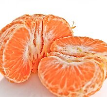 Pealed mandarin orange by derejeb