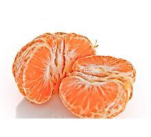 Pealed mandarin orange Photographic Print