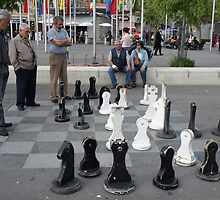 Ouchy - Men at chess by santoshputhran
