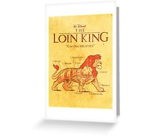 THE LOIN KING Greeting Card
