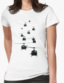 Huey Helicopters Womens Fitted T-Shirt