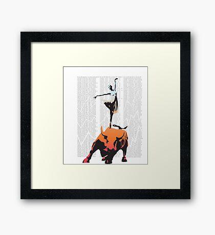 Bullerina Framed Print