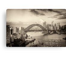 Sepia Dreams - Sydney Harbour, Sydney Australia - The HDR Experience Canvas Print