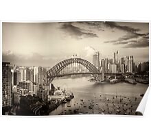 Sepia Dreams - Sydney Harbour, Sydney Australia - The HDR Experience Poster