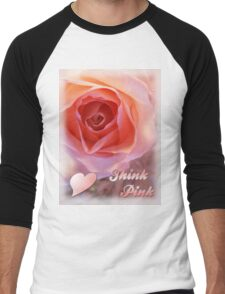*** THINK PINK *** Men's Baseball ¾ T-Shirt