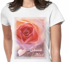 *** THINK PINK *** Womens Fitted T-Shirt