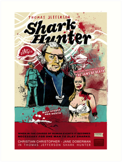 Thomas Jefferson - Shark Hunter! by badassdigest