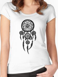dream catcher(Black) Women's Fitted Scoop T-Shirt