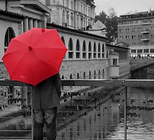 Rainy days in Ljubljana by Ian Middleton