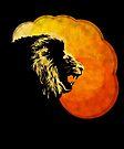 NIGHT PREDATOR: lion silhouette illustration by SFDesignstudio