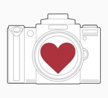 Camera Heart One Piece - Long Sleeve