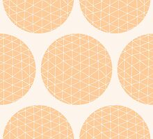 Seamless pattern with circles and hand drawn line pattern by BlueLela