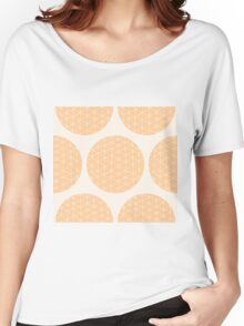 Seamless pattern with circles and hand drawn line pattern Women's Relaxed Fit T-Shirt