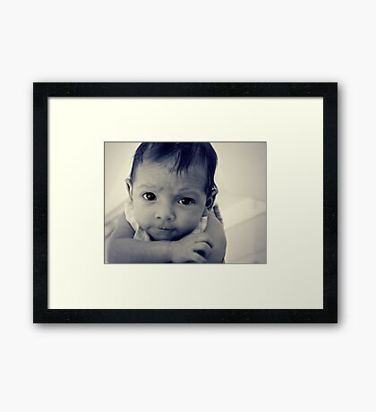 I see such love in her eyes Framed Print