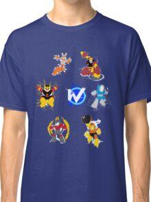 Robot Masters of Mega Man 1 Splatter Art Classic T-Shirt