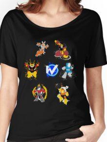 Robot Masters of Mega Man 1 Splatter Art Women's Relaxed Fit T-Shirt