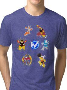 Robot Masters of Mega Man 1 Splatter Art Tri-blend T-Shirt
