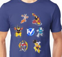 Robot Masters of Mega Man 1 Splatter Art Unisex T-Shirt