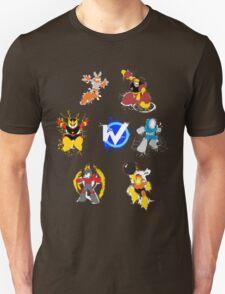 Robot Masters of Mega Man 1 Splatter Art T-Shirt