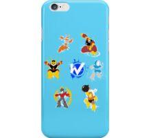Robot Masters of Mega Man 1 Splatter Art iPhone Case/Skin