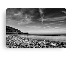Laxey Beach on a Spring Afternoon Canvas Print