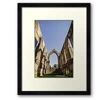 Inside Bolton Abbey under a roof of stars 5653 Framed Print