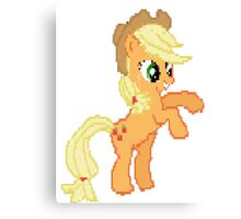 Applejack Pixel my little pony Brony Pegasister Canvas Print