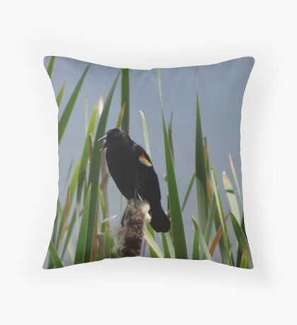 Back Off Throw Pillow